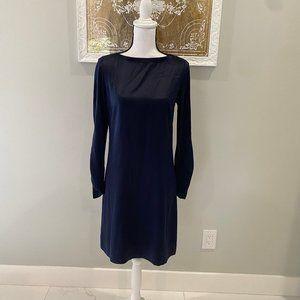 Elie Tahari Navy Silk Long Sleeve Dress (4)